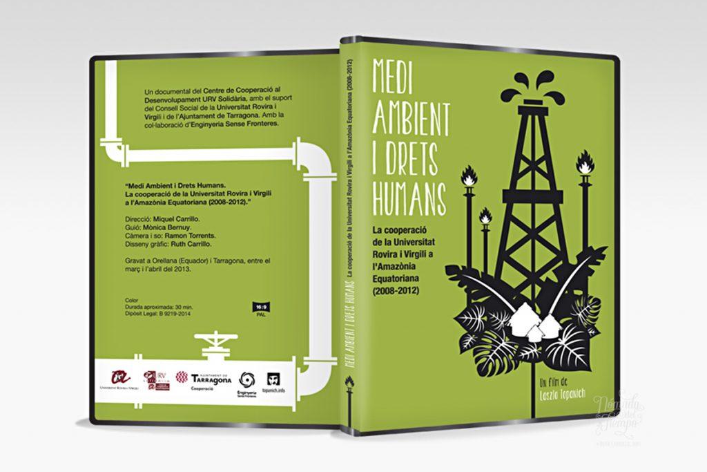"""""""Medi ambient i drets humans"""", de Laszlo Topanich Films y Universidad Rovira i Virgili, 2014. Ilustración y Diseño gráfico"""