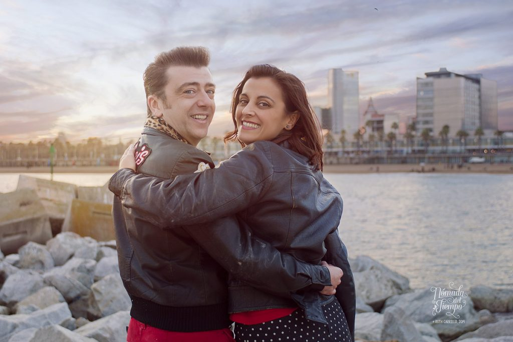 Barcelona rockers, con Rafa y Diana