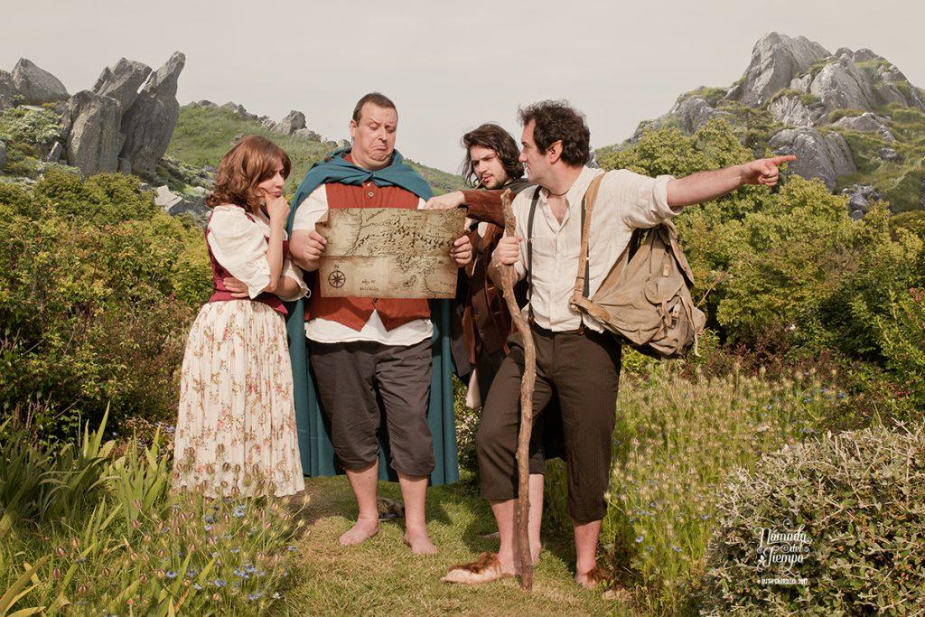 """""""Hobbits"""", evento BCN Cosplay, con Sophie, Javier, Nil y Edu"""